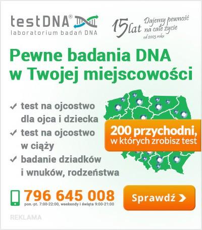 test DNA na ojcostwo reklama