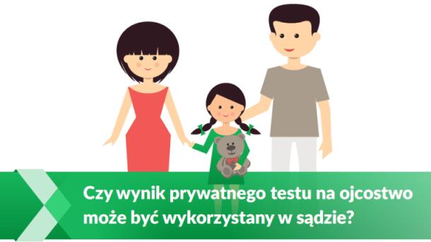 wynik prywatnego testu na ojcostwo w sądzie